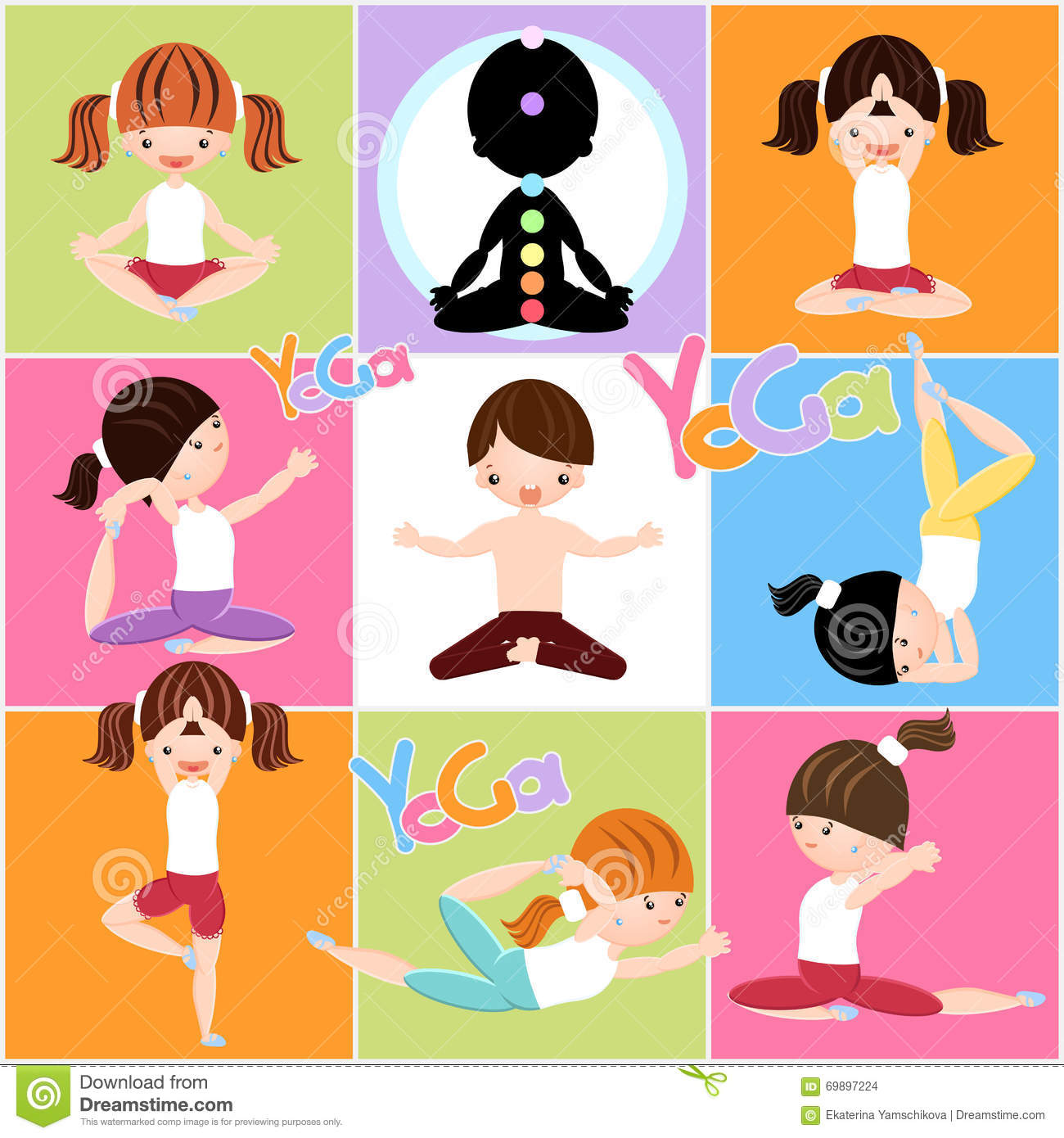 Clipart yoga stock vector. Illustration of logo, beautiful.