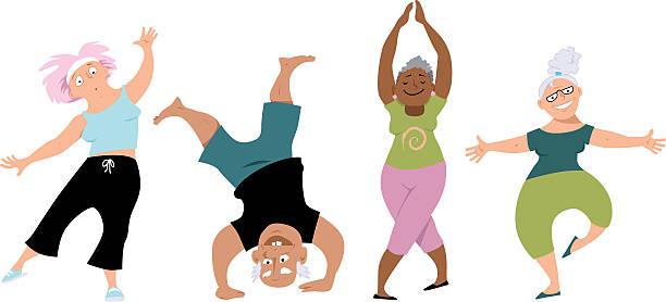 Senior yoga class » Clipart Station.