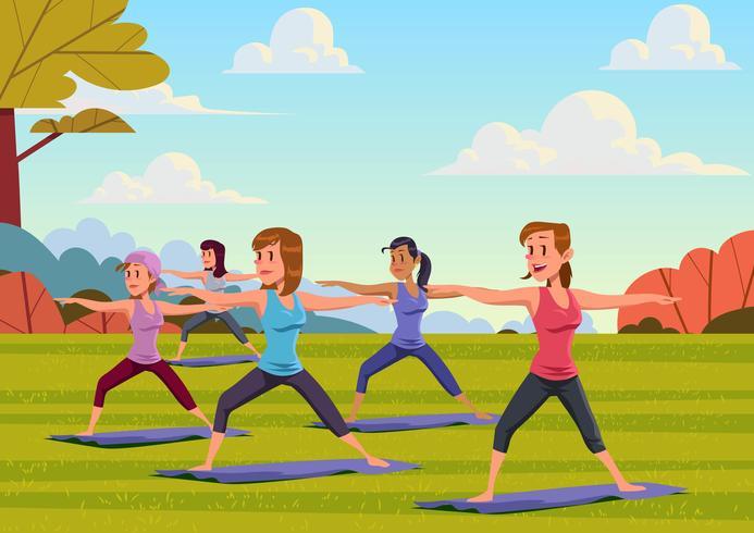 Outdoor Yoga Class.