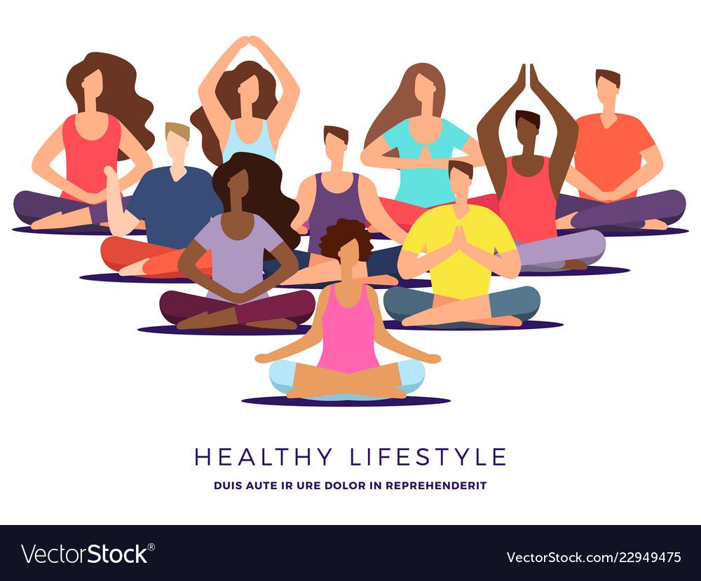 Yoga or pilates class.