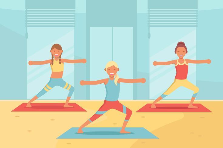 Yoga Class Vector.