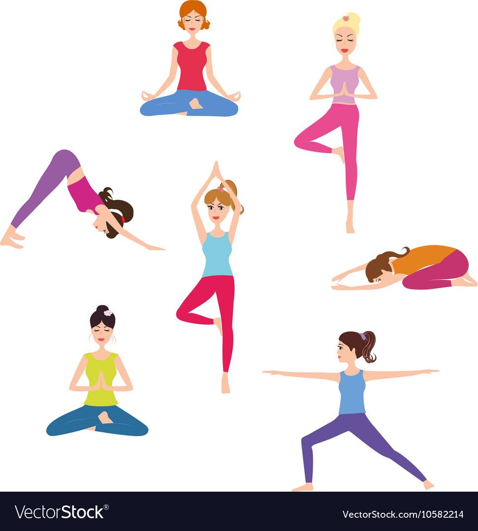 Set of Yoga class.
