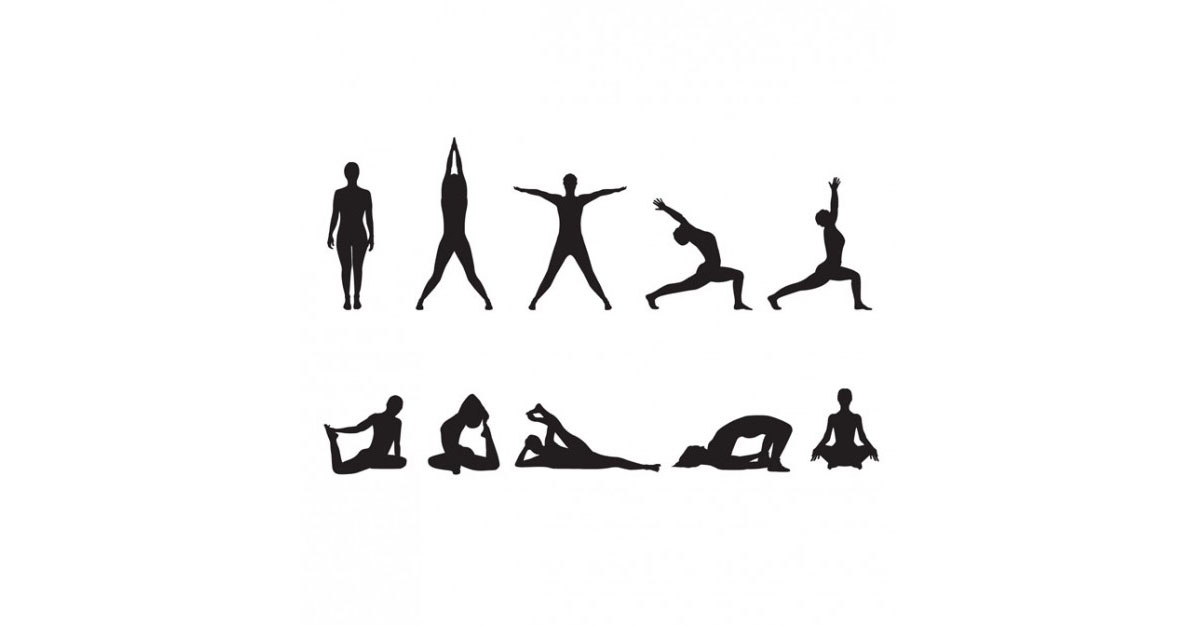 Yoga clip art black and white yoga.