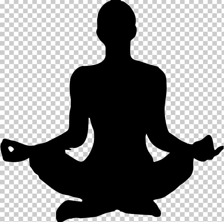 Yoga Silhouette Woman PNG, Clipart, Black And White, Clip Art, Human.