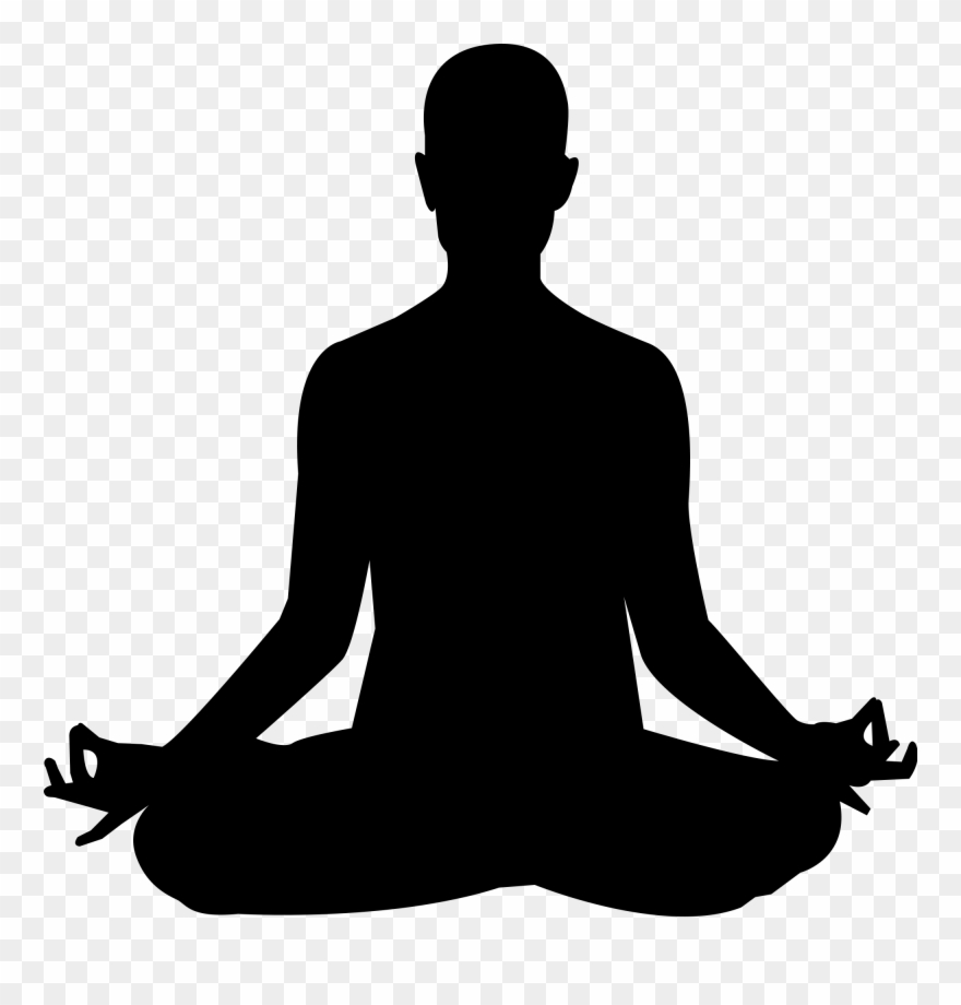 Yoga Meditation Silhouette Clip Art.
