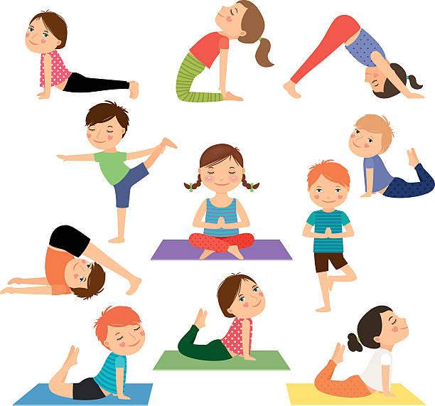 Best Yoga Illustrations, Royalty.
