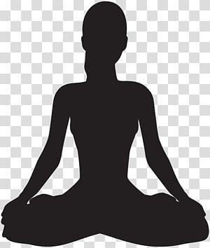Meditation transparent background PNG cliparts free download.