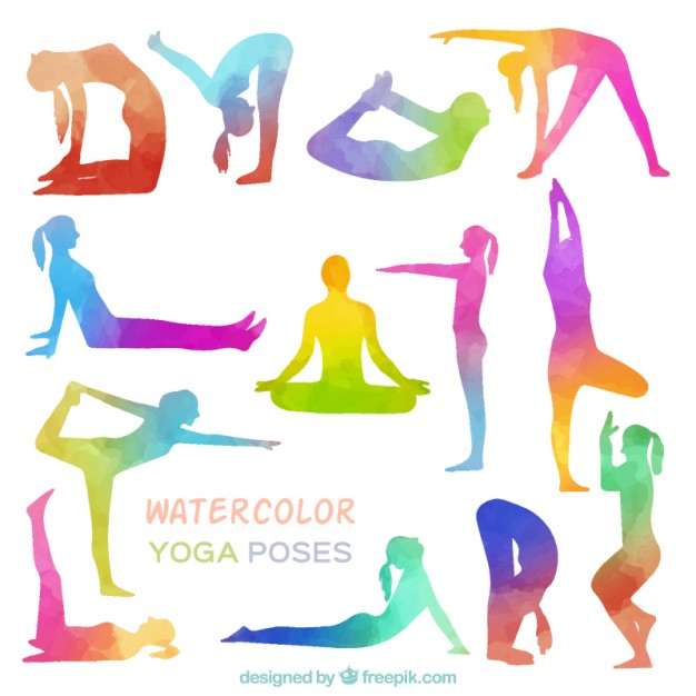 Yoga Clipart Vector Free.