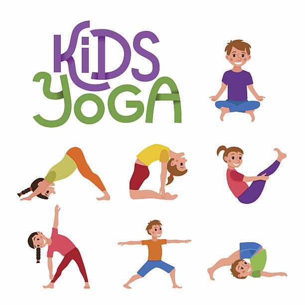Yoga Kid Clip Art Clip Art, Vector Images & Illustrations.