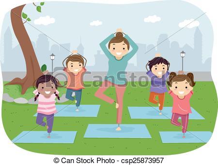 Yoga kids Vector Clip Art Illustrations. 489 Yoga kids clipart EPS.