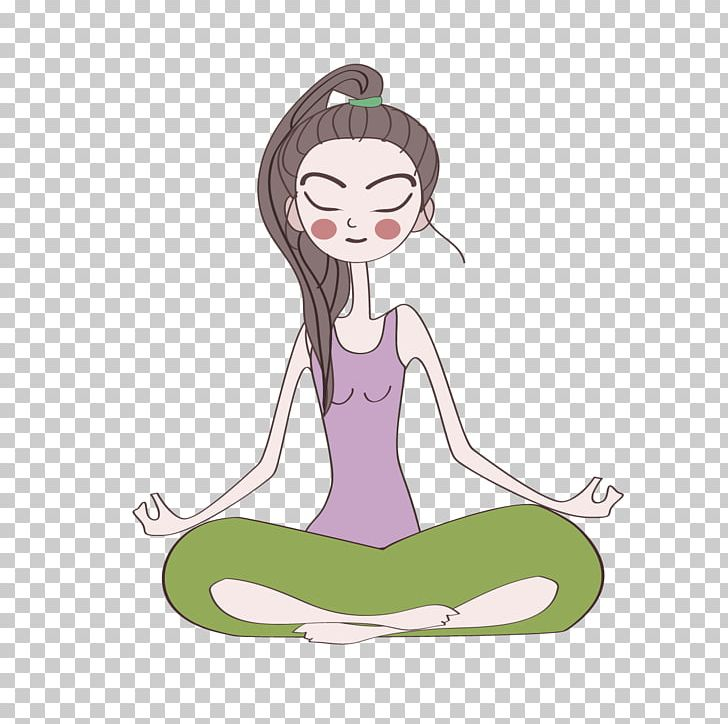 Cartoon Yoga Girl PNG, Clipart, Animation, Art, Baby Girl.