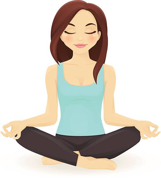 Yoga Girl Clipart.