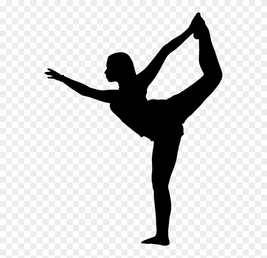 Clipart Female Yoga Pose Silhouette 5 Black Girl Ballerina.