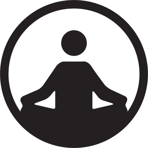 Exercise, fitness, pilates, pillates, strength, yoga icon.