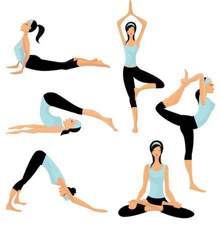 Yoga poses clipart 1 » Clipart Station.