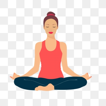 Yoga Cartoon PNG Images.