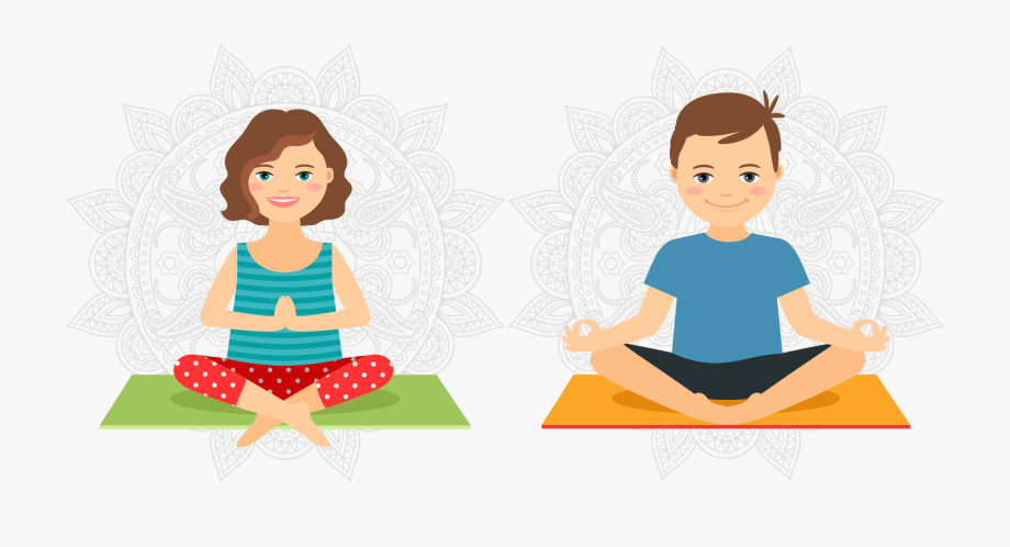 Stretching Clipart Yoga Kid.