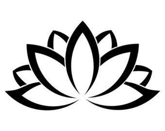 Lotus Flower PREMIUM Decal 5\