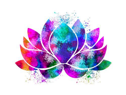 Illustrations de Lotus Flower Yoga symbole par.