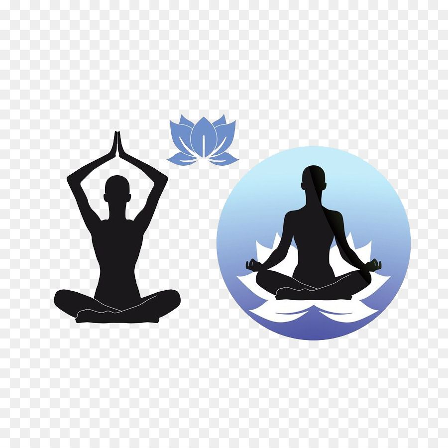Yoga Lotus Position Stock Photography Clip Art Hand Painted.