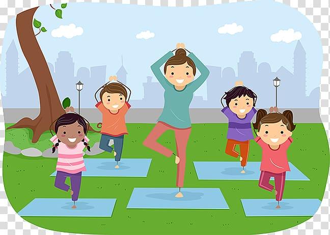 Yoga & Pilates Mats Child Exercise , yoga kid transparent.