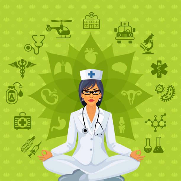 Stressed Nurse Clipart.