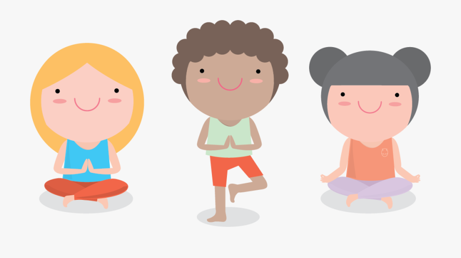 Vector Kids Yoga , Transparent Cartoon, Free Cliparts.