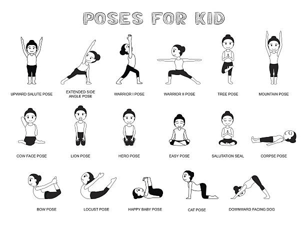 Mountain Pose Yoga Clipart.