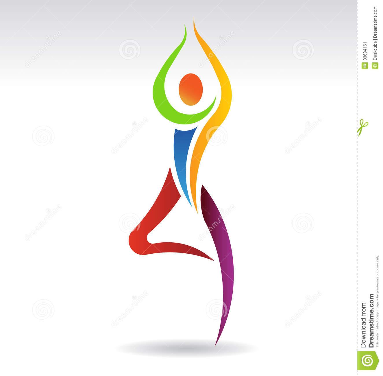 Yoga Silhouette Color.