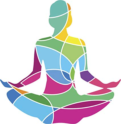 Amazon.com: Simple Rainbow Abstract Yogi Yoga Lotus Pose.