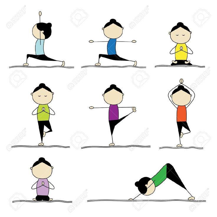 Yoga Poses Clipart.