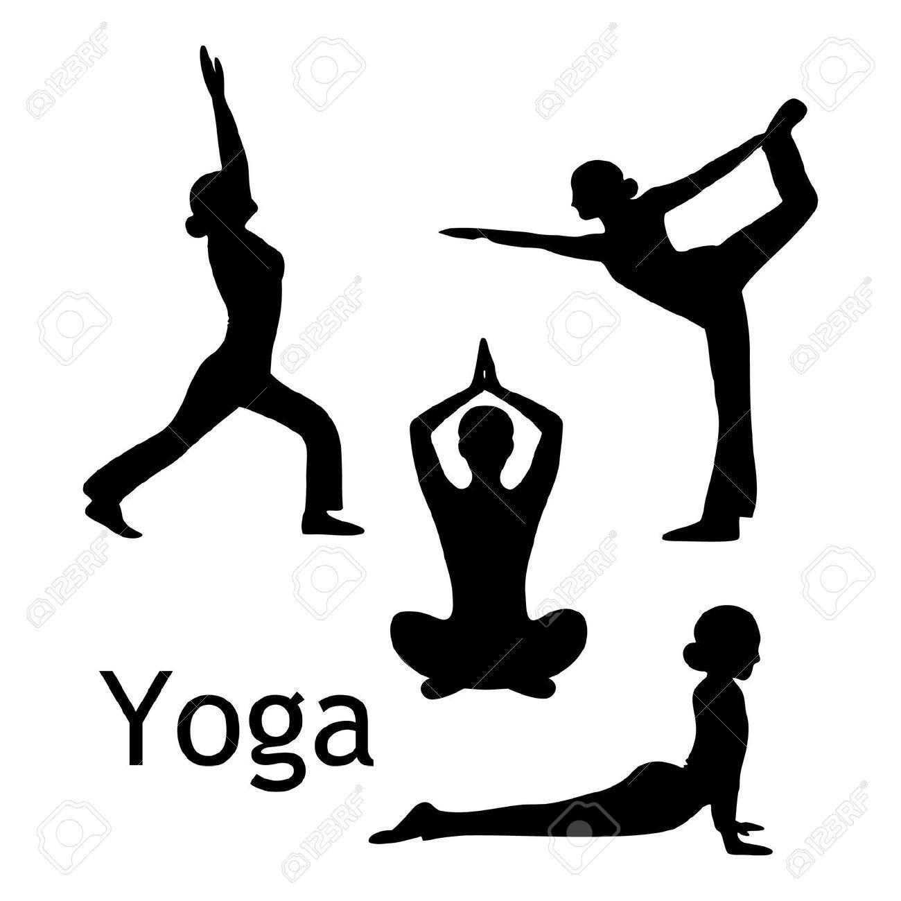 Yoga Pose Clipart #1.