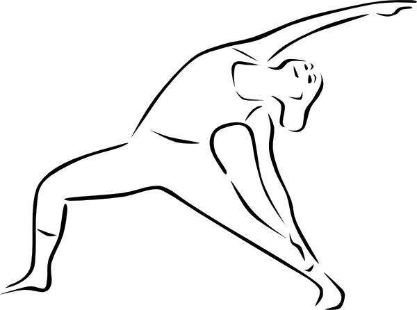 Yoga Poses Stylized clip art Free vector in Open office drawing svg.