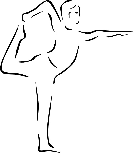 Yoga Poses Stylized clip art Free vector in Open office.