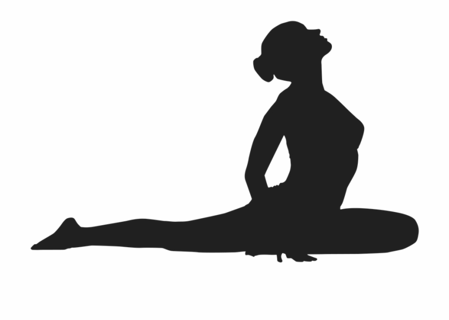 Lizard Yoga Pose Performed By Women Silhouette Png.