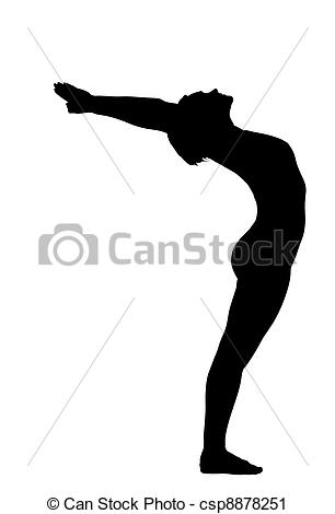 Vector Clip Art of woman stand in yoga pose.