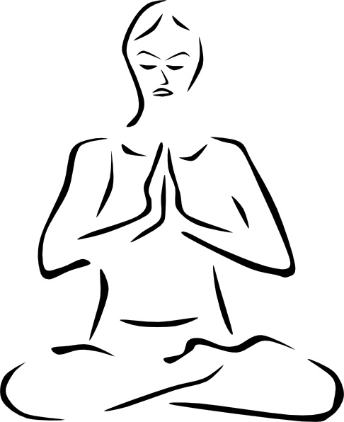 Yoga Poses Stylized clip art Free vector in Open office drawing.