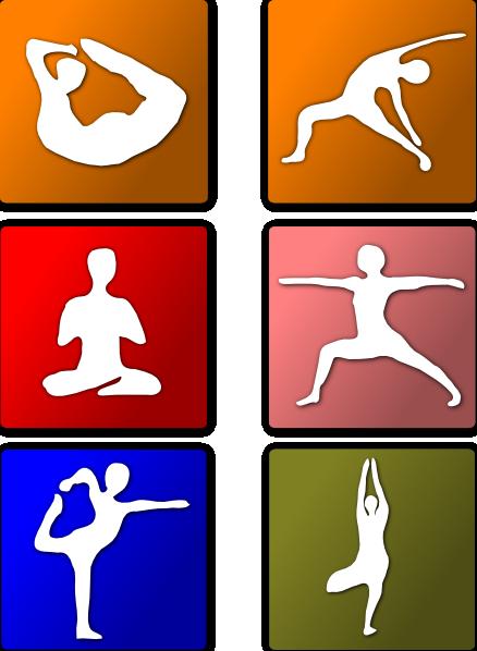 Yoga Positions Clip Art at Clker.com.