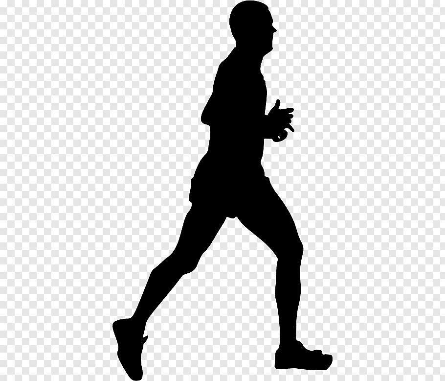 Man, Silhouette, Standing, Running, Lunge, Joint, Leg free.