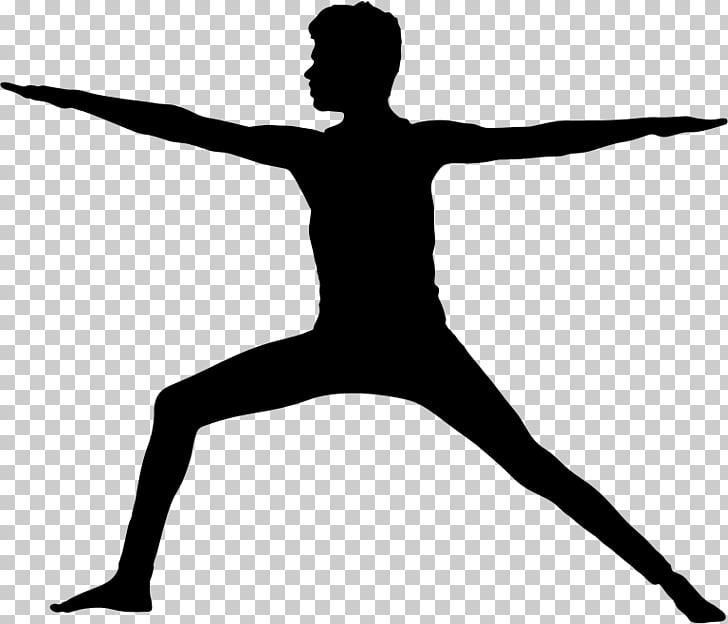 Yoga Silhouette Exercise Physical fitness , poses PNG.