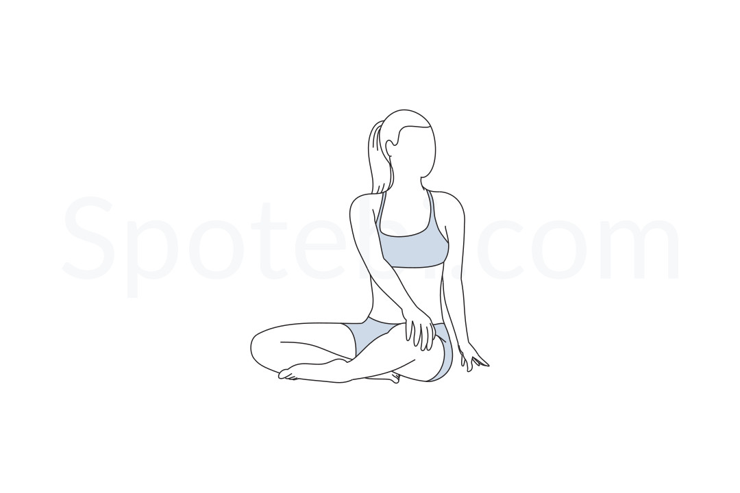 Seated Spinal Twist Pose.