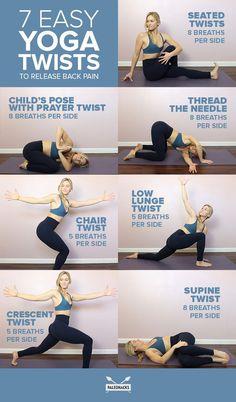Yoga twist poses.