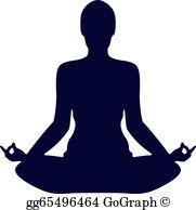 Yoga Silhouette Clip Art.