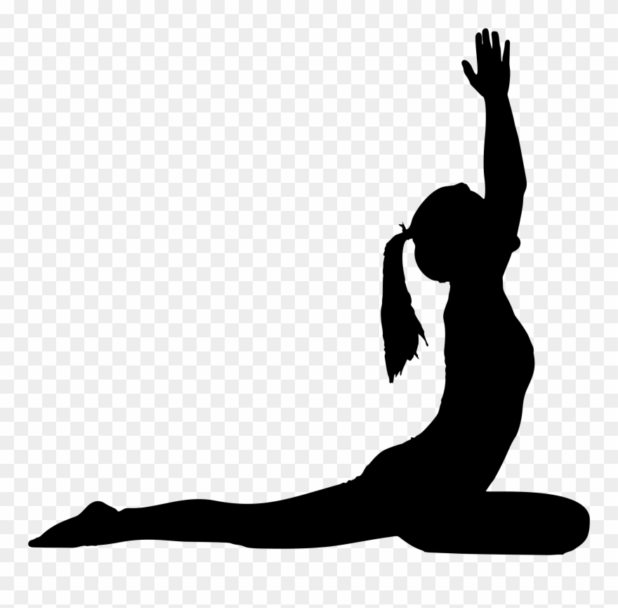 Female Yoga Pose Silhouette.
