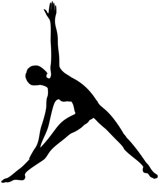 yoga silhouette.