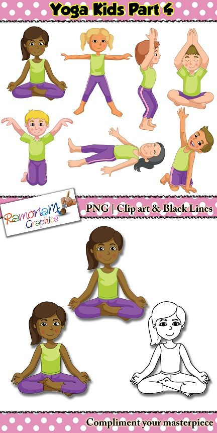Yoga student clipart.