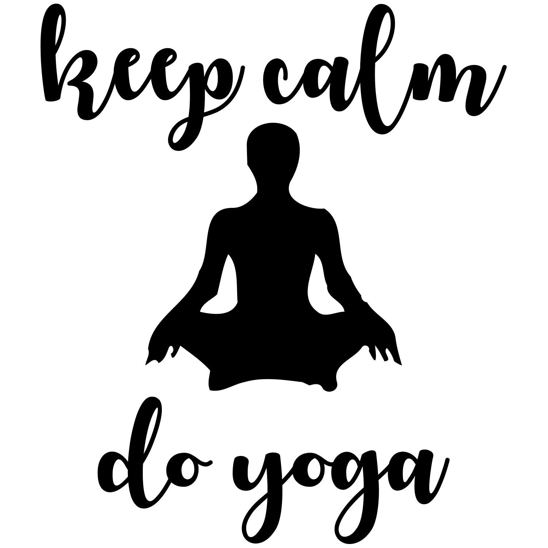 Amazon.com: Quote keep calm do yoga Wall Decal. Yoga Vinyl.