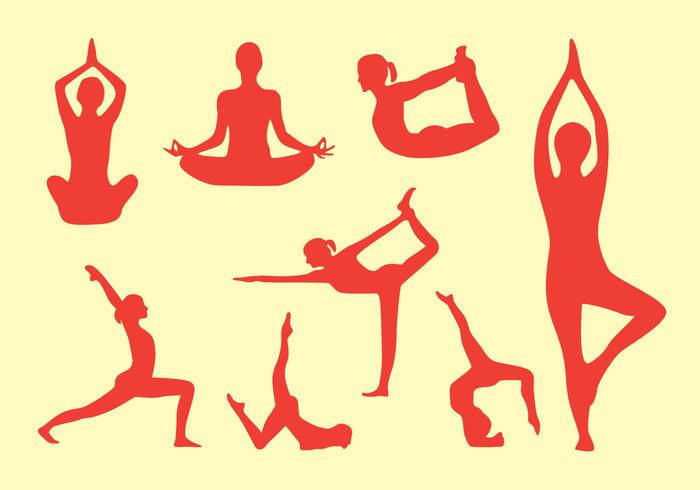 Yoga Pose Vector Pack.