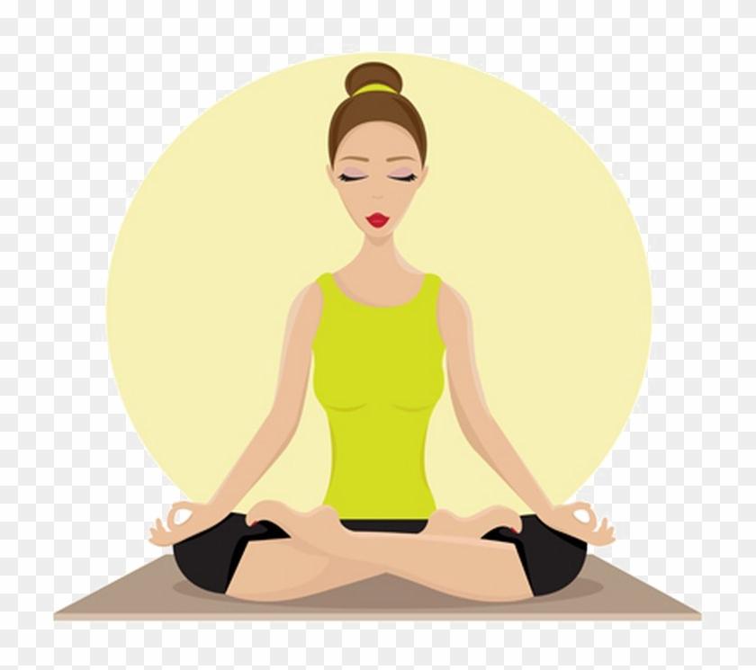 Woman Yoga Lotus Pose Animated Clipart Png Transparent.