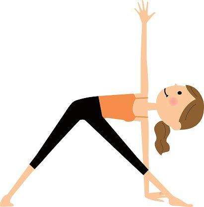 Women who do yoga Clipart Image.
